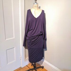 Joseph Ribkoff Dolman Sleeve DeepV Neck Sack Dress